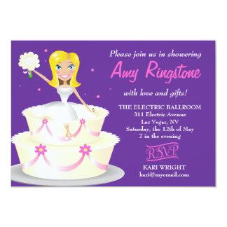 311 Miss Wright 2 Blonde Purple 5x7 Paper Invitation Card