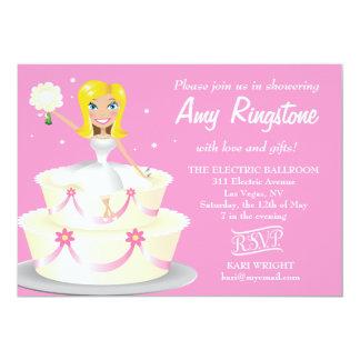 311 Miss Wright 2 Blonde Soft Pink 5x7 Paper Invitation Card