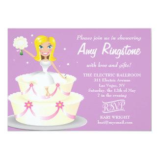 311 Miss Wright 2 Blonde Soft Purple 5x7 Paper Invitation Card