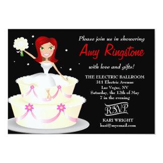 311 Miss Wright 2 Red Head Black 5x7 Paper Invitation Card