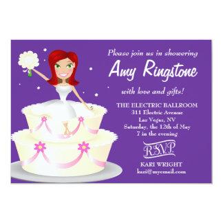 311 Miss Wright 2 Red Head Purple 5x7 Paper Invitation Card