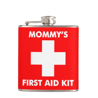 311 Mommy's First Aid Flask Red