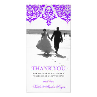 311 Mon Cherie Damask Fabulous Purple Card
