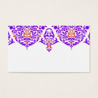 311 Mon Cherie Damask Fabulous Purple Orange Business Card