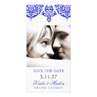 311 Mon Cherie Damask The New Blue Save the Date Card