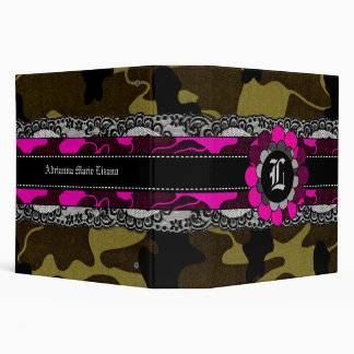 311-Monogram Camo & Flower Binder