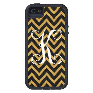 311 Monogram K Gold Black Chevron iPhone SE/5/5s Case