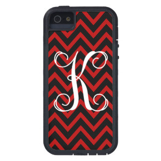 311 Monogram K Red Black Chevron iPhone SE/5/5s Case