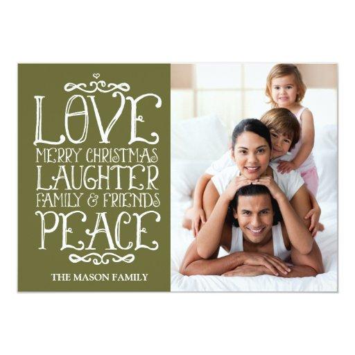 311 Moss Love Merry Christmas Holiday Card Invitation