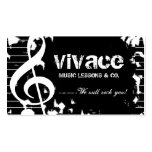 311-MUSICAL MAESTRO - GRUNGE Double-Sided STANDARD BUSINESS CARDS (Pack OF 100)
