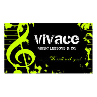 311-MUSICAL MAESTRO - GRUNGE LIME BUSINESS CARD