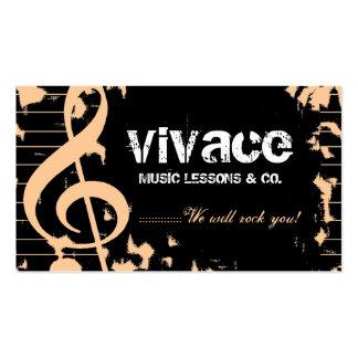 311-MUSICAL MAESTRO - GRUNGE PEACH BUSINESS CARD