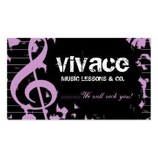311-MUSICAL MAESTRO - GRUNGE PURPLE BUSINESS CARD