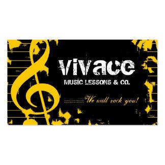 311-MUSICAL MAESTRO - GRUNGE YELLOW BUSINESS CARD