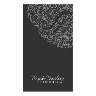 311-Myah Paisley | Gray Business Card Template