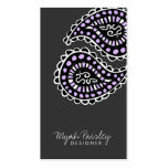 311 Myah Paisley Lavender Gray Business Card Template