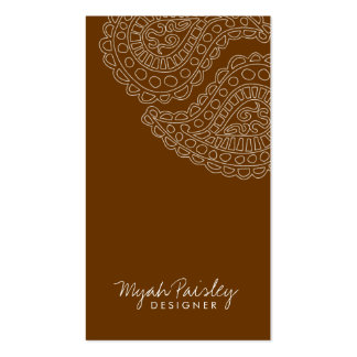 311-Myah Paisley | Leather Business Card Templates