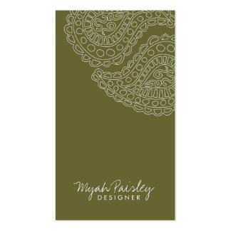 311 Myah Paisley Sage Business Card Template