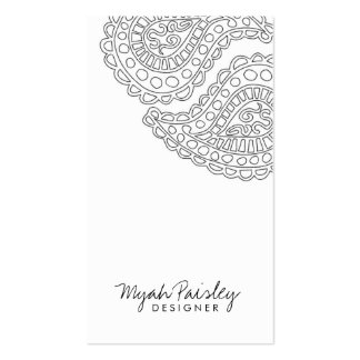 311 Myah Paisley White Business Card