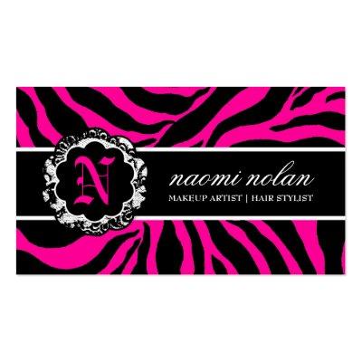zebra print. 311-Naomi Monogram Zebra Print