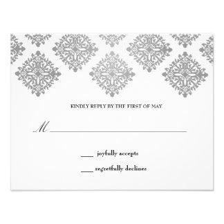 311 Nicoletta White & Gray Reply Card