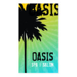 311 Oasis Palm  Tree Blue Business Card