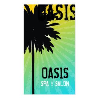 311 Oasis Palm  Tree Blue Business Card