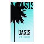 311 OASIS PALM TREE BLUE TOO Double-Sided STANDARD BUSINESS CARDS (Pack OF 100)