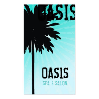 311 OASIS PALM TREE BLUE TOO BUSINESS CARDS