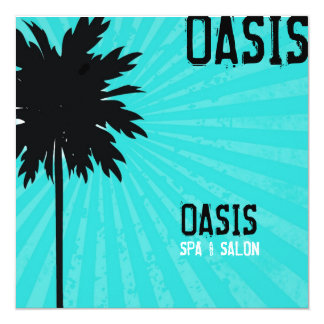 311-Oasis Palm Tree Gift Certifcate | Turquoise Card