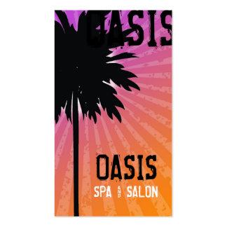 311 OASIS PALM TREE PURPLE BUSINESS CARD