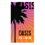 311 OASIS PALM TREE PURPLE BUSINESS CARDS