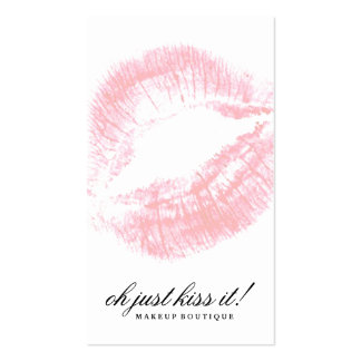 311 Oh Just Kiss it! Soft Peachy Pink Kisses Business Card