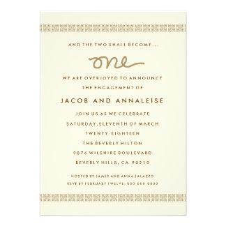 311 ONE ENGAGEMENT DINNER INVITATION