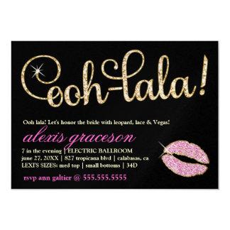 311 Ooh Lala Glitzy Kiss Sparkle Metallic 5x7 Paper Invitation Card