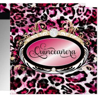 311 Opulent Gold Red Pink Leopard Metallic Paper Card