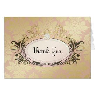 311 Opulent Pink Thank You Card