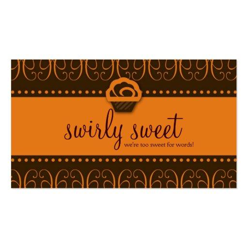311-Orange Swirly Sweet Business Card