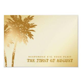 311-Paradise Found RSVP | Golden Palms Metallic Card