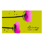 311-PASSIONATE POPPY   PEA GREEN BUSINESS CARDS