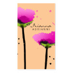 311 PASSIONATE POPPY PEACH BUSINESS CARD TEMPLATES