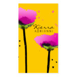 311-PASSIONATE POPPY   YELLOW BUSINESS CARD TEMPLATES