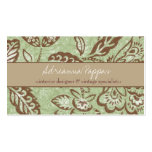 311 PEA FLORAL VINTAGE Double-Sided STANDARD BUSINESS CARDS (Pack OF 100)