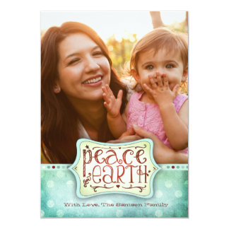 "311 Peace on Earth Holiday Card Blue Green 5"" X 7"" Invitation Card"