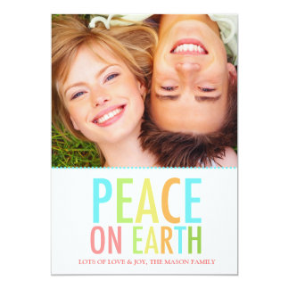 311 Peace on Earth Holiday Card Colorful
