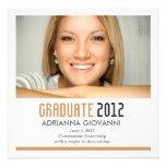 311 Peach & Charcoal Graduation Announcement