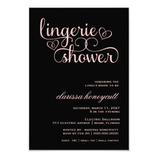 311 Peach Lux Pink Bridal Shower Personalized Announcements