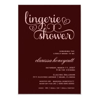 311 Peach Lux Pink Brown Bridal Shower Custom Invitations
