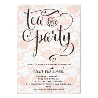 311 Peach Tea Party Invitation