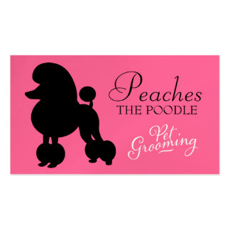 311 Peaches the Poodle Pet Grooming Business Card